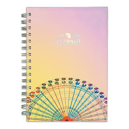 "Matt Crump Cambridge Academic Weekly/Monthly Hardcover Planner, 5-1/2"" x 8-1/2"", Rainbow Ferris Wheel"