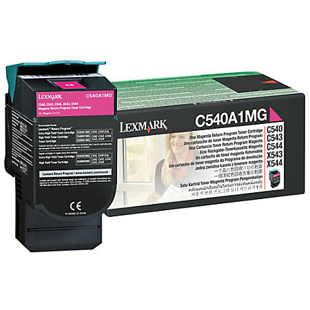 Lexmark™ C540A1MG Return Program Magenta Toner Cartridge