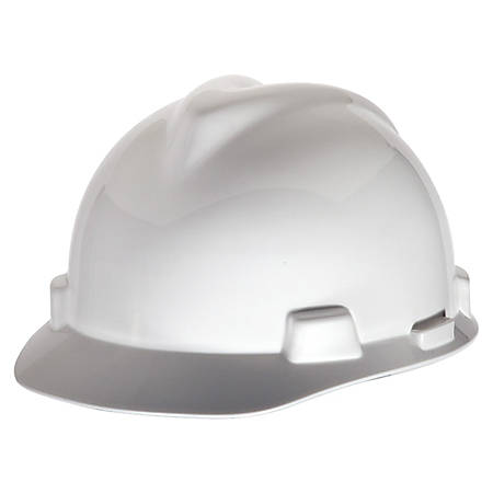 MCR Safety Top Impact Slotted Cap, White
