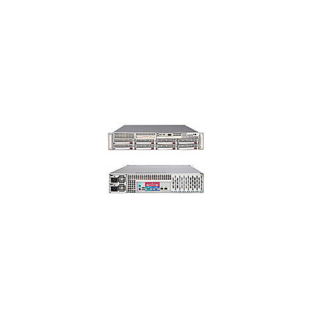 Supermicro A+ Server 2021M-32RB Barebone System - nVIDIA MCP55 Pro - Socket F (1207) - Opteron (Quad-core), Opteron (Dual-core) - 1000MHz Bus Speed - 32GB Memory Support - DVD-Reader (DVD-ROM) - Gigabit Ethernet - 2U Rack