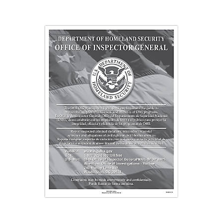 "ComplyRight Federal Contractor Posters, Bilingual, DHS Fraud Hotline, 8 1/2"" x 11"""