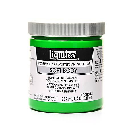 Liquitex Soft Body Professional Artist Acrylic Colors, 8 Oz, Permanent Green Light