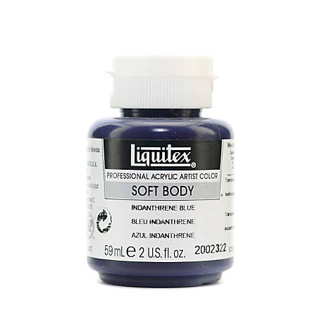 Liquitex Soft Body Professional Artist Acrylic Colors, 2 Oz, Indanthrene Blue, Pack Of 2