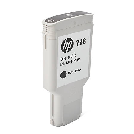 HP 728 300-mL Matte Black Ink Cartridge (F9J68A)