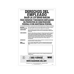 ComplyRight Federal Contractor Posters Spanish Davis