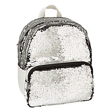 Office Depot Brand Sequined Backpack Silver