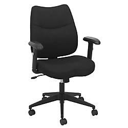 Barcalounger Fabric Mid Back Chair GrayBlack