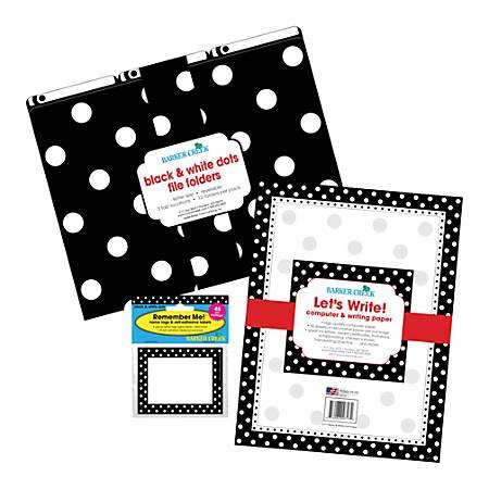 Barker Creek Get Organized Kit, Letter Size, Black Dot