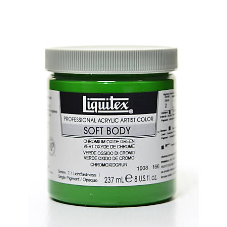 Liquitex Soft Body Professional Artist Acrylic Colors, 8 Oz, Chromium Oxide Green
