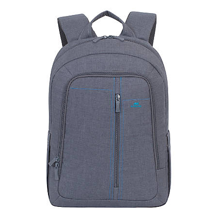 """Rivacase 7560 Canvas Backpack for 15"""" Laptops, Grey"""