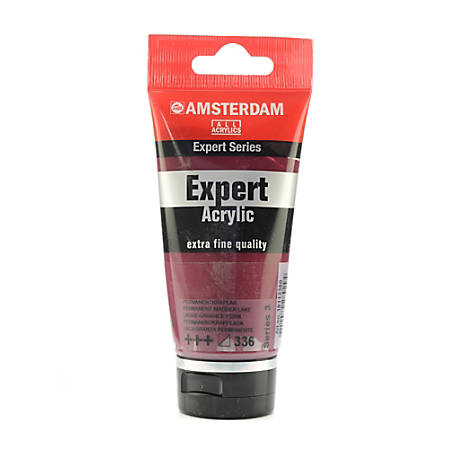 Amsterdam Expert Acrylic Paint Tubes, 75 mL, Permanent Madder Lake, Pack Of 2