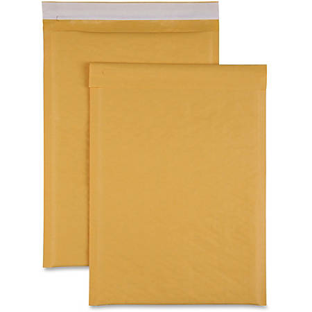 "Sparco Size 4 Bubble Cushioned Mailers - Bubble - #4 - 9 1/2"" Width x 14 1/5"" Length - Self-sealing - Kraft - 100 / Carton - Kraft"