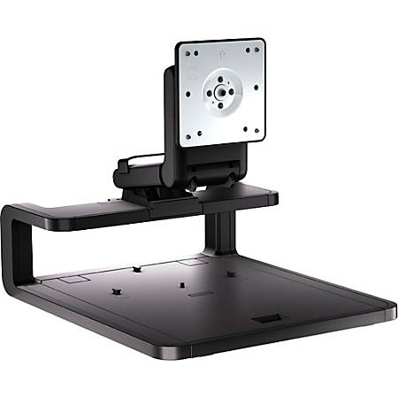 """HP Adjustable Display Stand, For 24"""" Monitors, Black"""