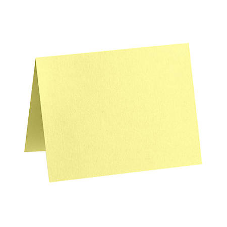 "LUX Folded Cards, A7, 5 1/8"" x 7"", Lemonade Yellow, Pack Of 50"
