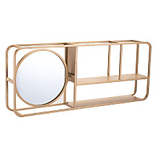 Zuo Modern Shelf With Mirror Gold