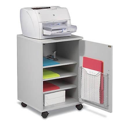"Balt® Laminate Printer/Fax Stand, 26 1/2""H x 17 1/2""W x 17 1/2""D, Gray"