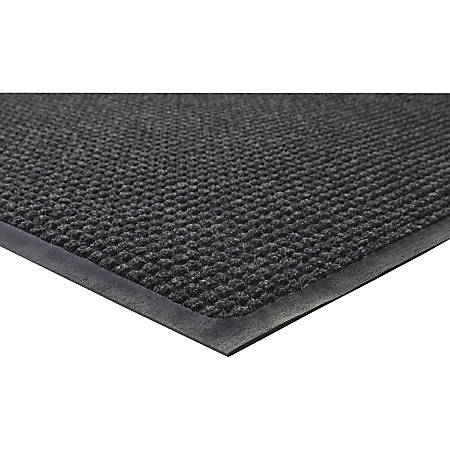 Genuine Joe Waterguard Mat, 3' x 5', Charcoal
