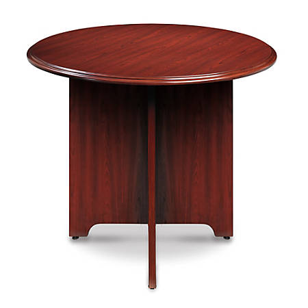 Realspace Broadstreet Conference Table Round Diameter Cherry - Office max conference table