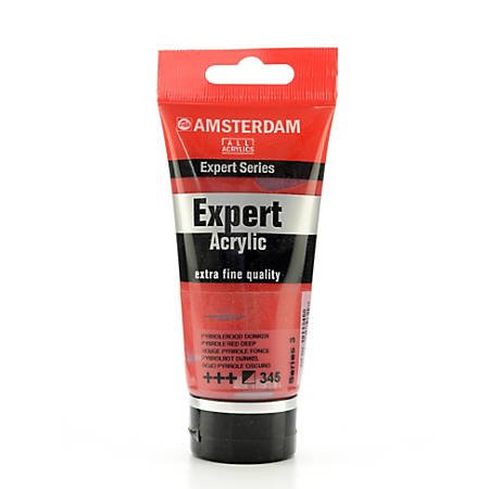 Amsterdam Expert Acrylic Paint Tubes, 75 mL, Pyrrole Red Deep, Pack Of 2
