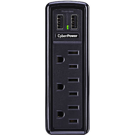 CSP300WU 3-Outlet Professional Surge Suppressor 2 USB Charging Ports - Plain Brown Boxes