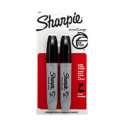Sharpie Chisel Tip Permanent Markers Black