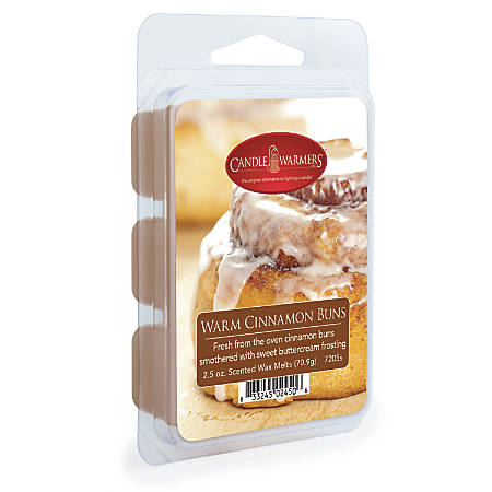 Candle Warmers Etc Wax Melts, Warm Cinnamon Buns, 2.5 Oz, Case Of 4 Packs