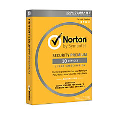 Norton Security Premium For 10 Devices