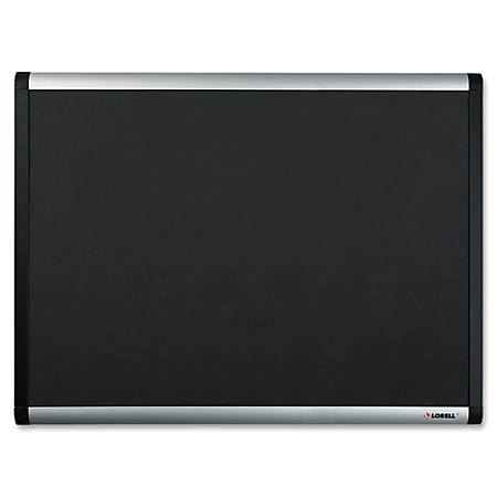 "Lorell® Mesh Fabric Covered Bulletin Board, 48"" x 72"", Black"