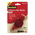Scotch Adhesive Dot Roller Refill, 0.3u0022 x 49 ft, Dries Clear -MMM6055R