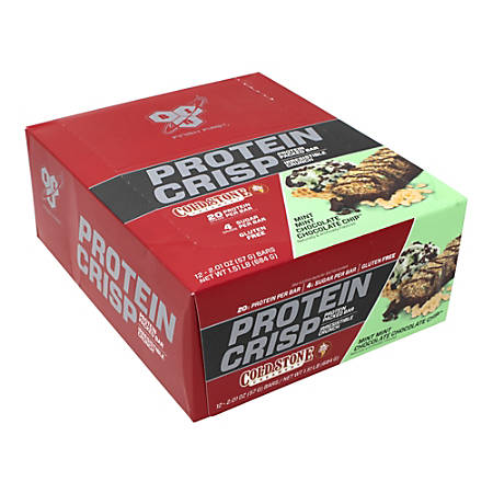 Finish First Protein Crisp Cold Stone Mint Chocolate Chip Protein Bars, 2.01 Oz, Box Of 12 Bars