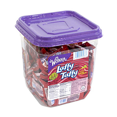 Laffy Taffy Cherry, 145 Individually Wrapped Pieces, 3.09-Lb Tub