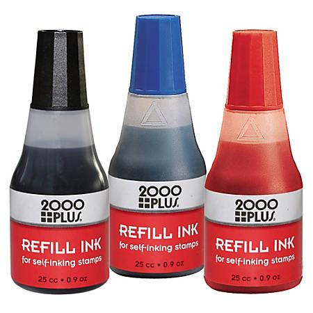 2000 PLUSR Self Inking Stamp Refill Ink 1 Oz Black