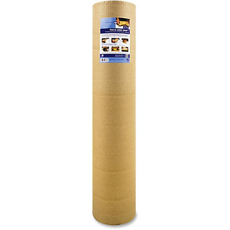 "Sparco Cohesive Corrugated Wrap - 18"" Width x 25 ft Length - Non-scratching, Bump Resistant, Self-sealing - Corrugated Paper - Kraft"