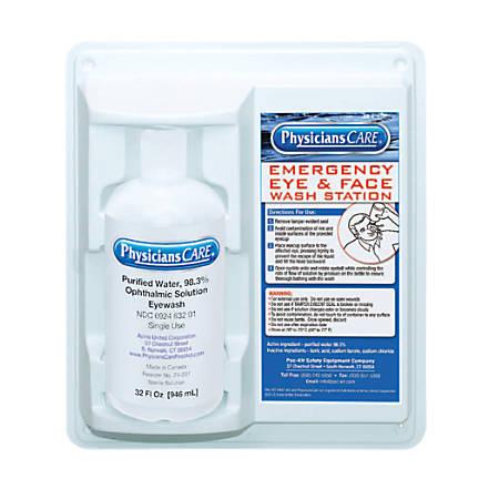Eye & Skin Flush Emergency Station/Replacement Bottles, 32 oz