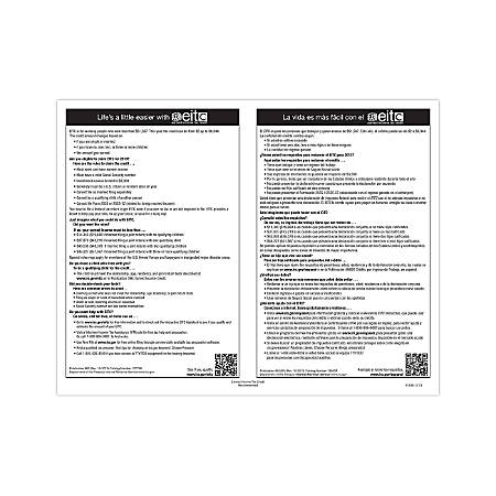 """ComplyRight Federal Specialty Posters, Bilingual, Earned Income Tax Credit, 8 1/2"""" x 11"""""""