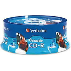 Verbatim Inkjet Printable CD R Disc