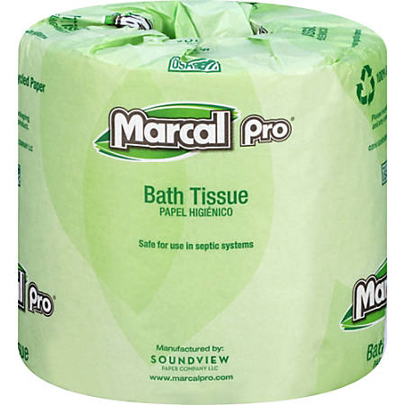 Marcal® Pro Premium 2-Ply Bathroom Tissue, 100% Recycled, White, 240 Sheets Per Roll, Carton Of 48 Rolls