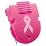 Advantus Panel Wall Clips, Breast Cancer, Pink, Pack Of 10