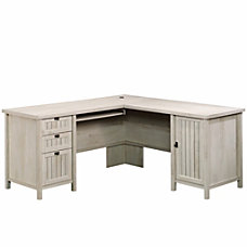 Sauder Costa L Desk Chalked Chestnut