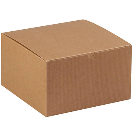 """Office Depot® Brand Gift Boxes, 10""""L x 10""""W x 6""""H, 100% Recycled, Kraft, Case Of 50"""