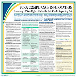 ComplyRight Federal Specialty Posters English FCRA