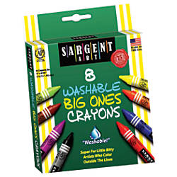 Sargent Art Washable Big Ones Crayons