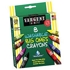 Sargent Art Washable Big Ones Crayons