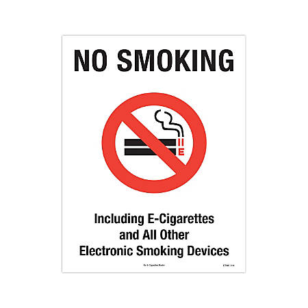 "ComplyRight Federal Specialty Posters, English, No Smoking Or E-Smoking, 8 1/2"" x 11"""