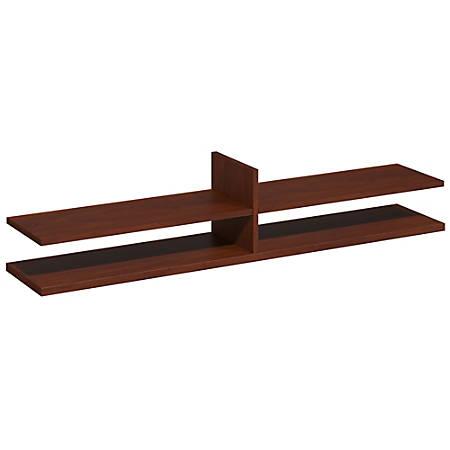 "Bush Business Furniture Components Elite Collection Standing Table Desk Shelf Kit, 60""W x 12 1/2""D, Hansen Cherry, Standard Delivery Service"