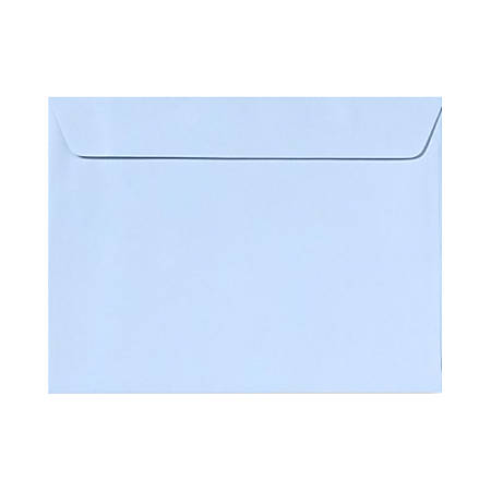 "LUX Booklet Envelopes With Moisture Closure, #9 1/2, 9"" x 12"", Baby Blue, Pack Of 50"