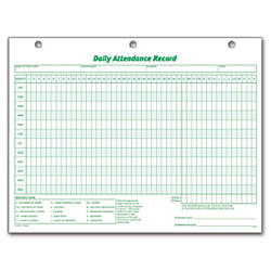 daily attendance record form  TOPS Daily Attendance Record 8 12 x 11 Pack Of 50 by Office Depot ...