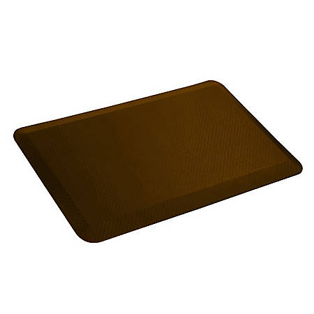 "Loctek Antifatigue Mat, 32"" x 20"", Brown"