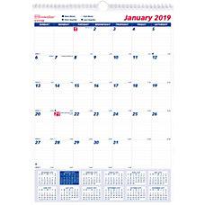 Brownline Ruled Block Monthly Wall Calendar
