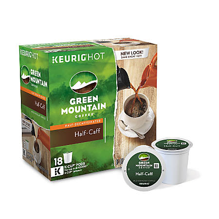 Green Mountain Coffee® Half-Caff Coffee K-Cup® Pods, Box Of 18 Pods